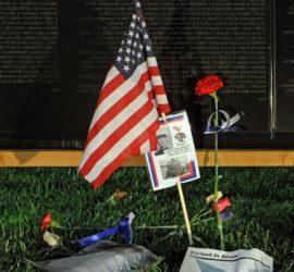 Memorial in front of the AV Wall